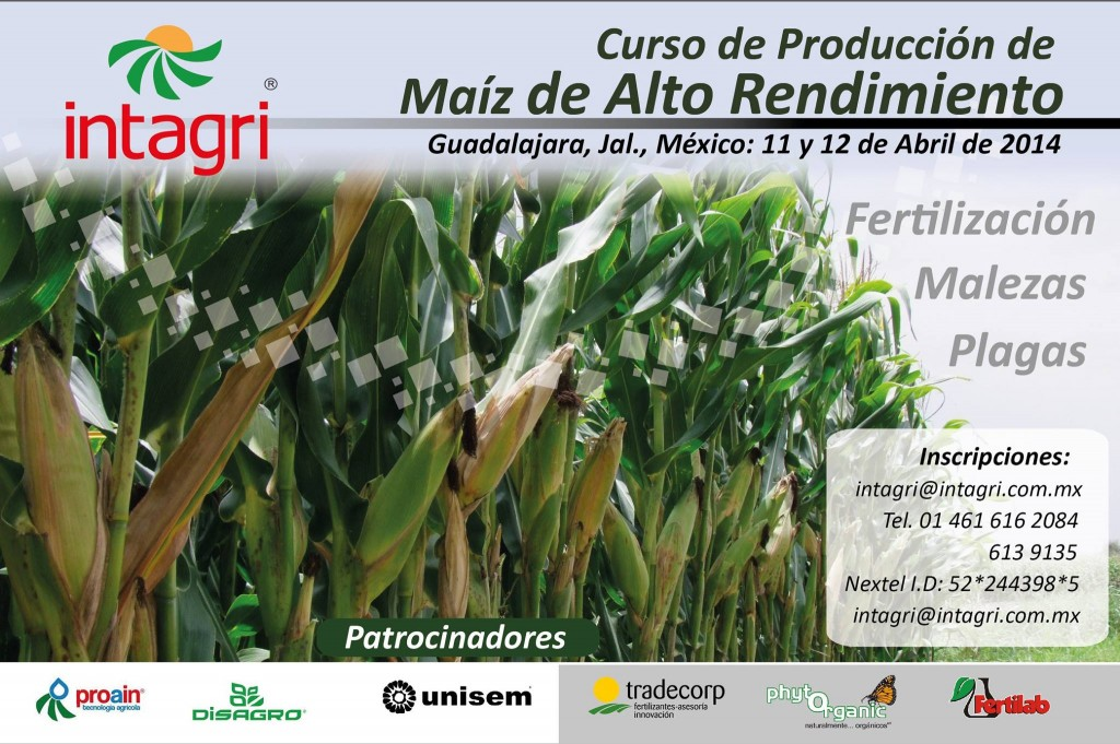 Intagri Curso Maiz Alta Produccion GDL 2014